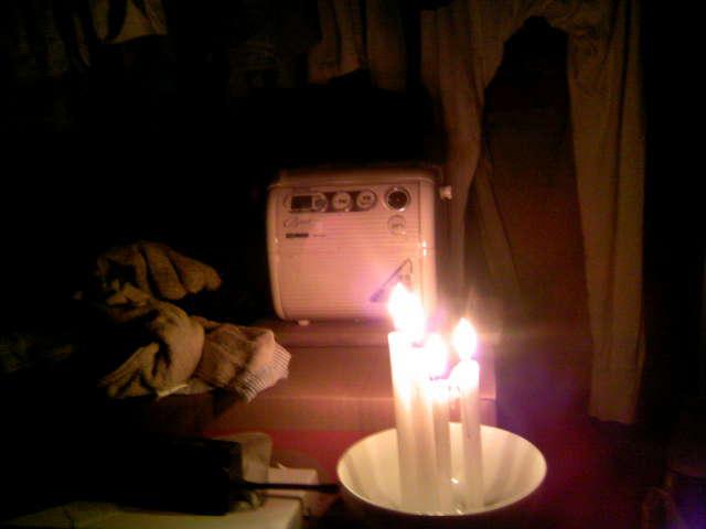 計画停電の下の生活